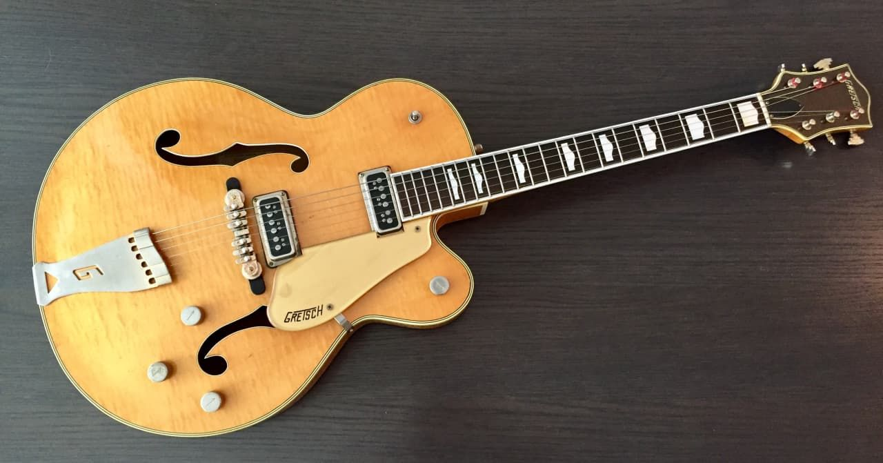 1956 Gretsch 6193 Country Club In Stunning Blonde Heavily Flamed Front Back Serial Number 190XX Amazing Guitar Contact For More Pictures And