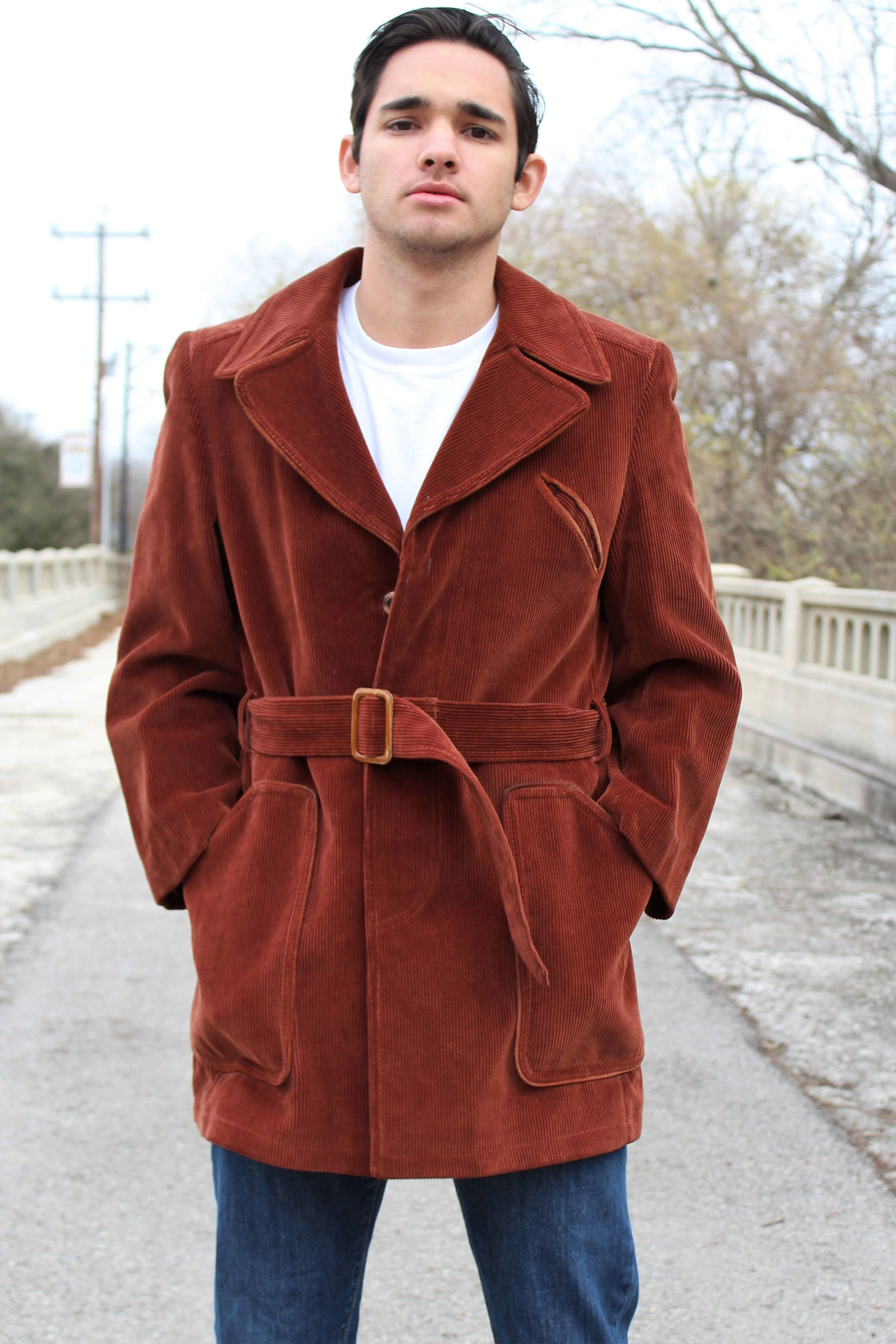 bf5a9402098d Wrap up in this cool corduroy coat from Cortefeil: 70s Clothing for Men |  Vintage