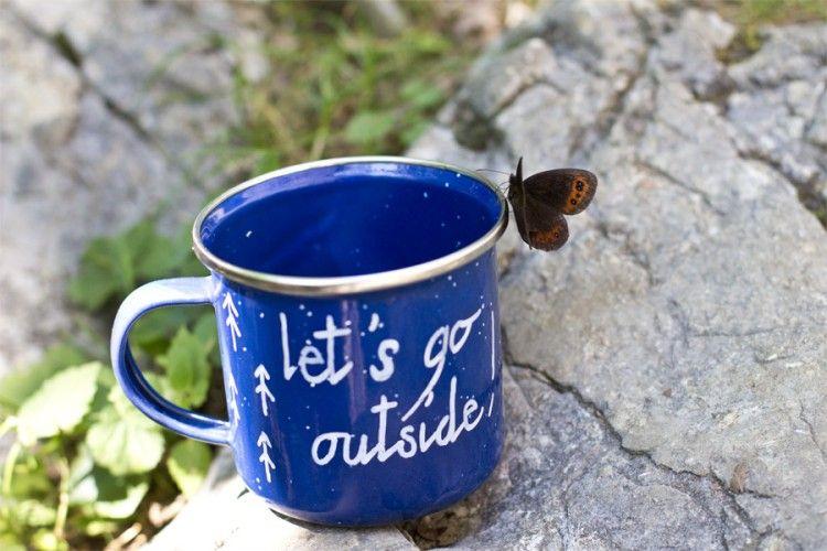 Make This Cute DIY Enamel Camping Cup   Camping hacks diy ...