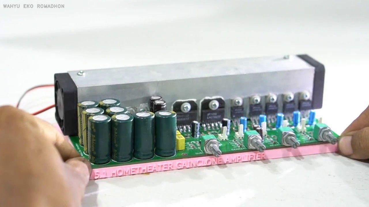 Build 51 Channel Amplifier With Gainclone Lm1875 X Lm3886 Power Impedance Bridge Circuit Amplifiercircuit