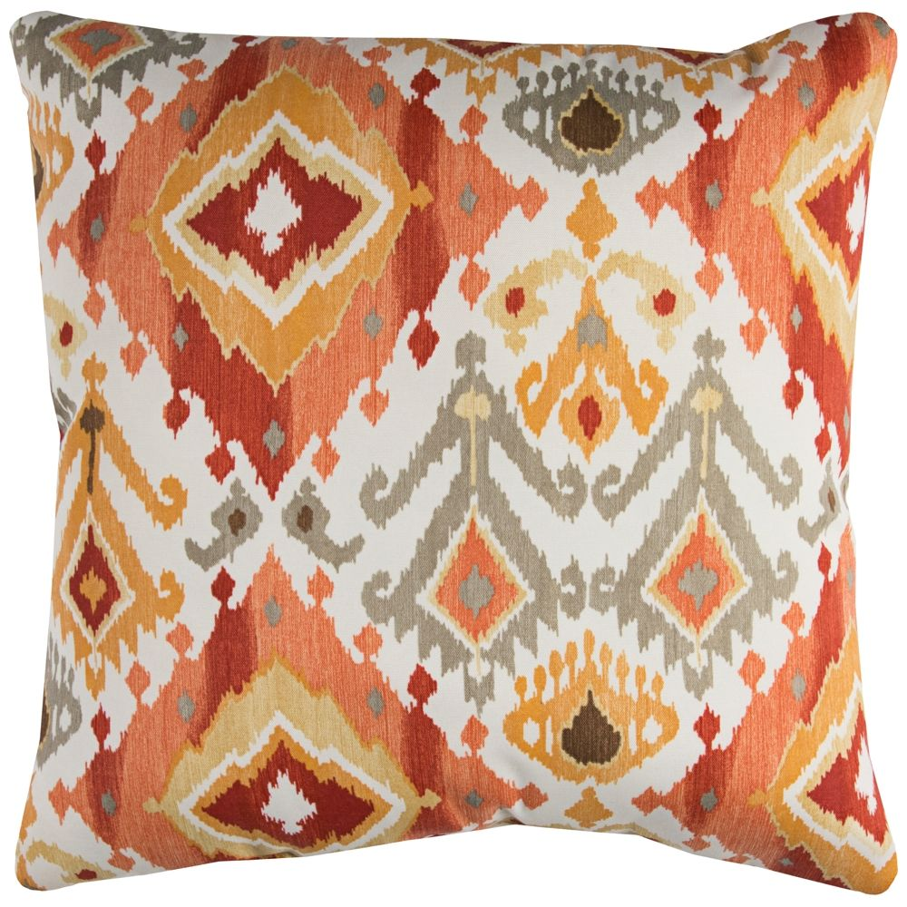 Lavezzi Rust Diamond 22 Square Indoor Outdoor Pillow Style