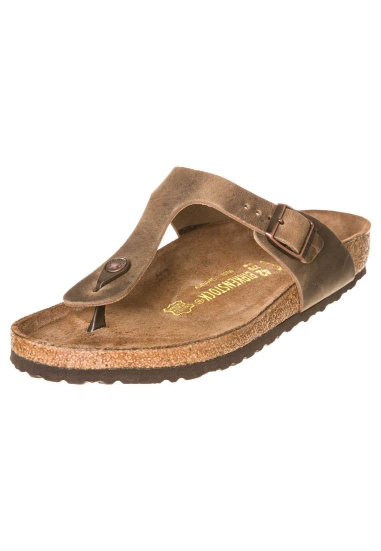 Zapatos grises Birkenstock Gizeh para mujer TDnIJF