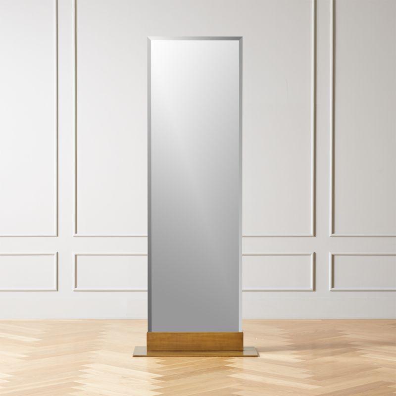 Palisade Brass Frameless Floor Mirror In 2020 Floor Mirror