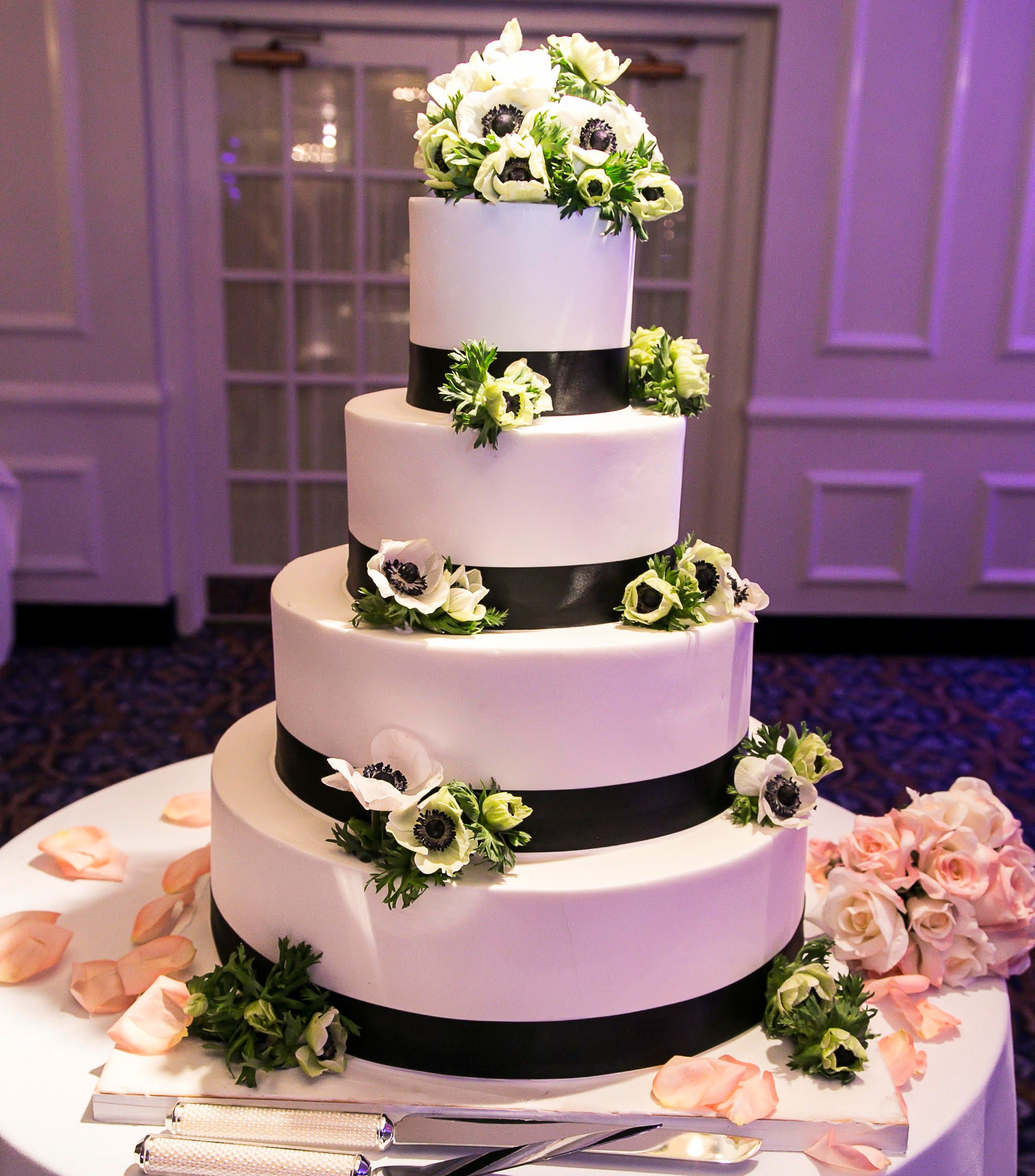 Beautiful Wedding Cakes By The Baking Grounds Bakery Café: This Four Layer Wedding Cake Is Simply Beautiful. The