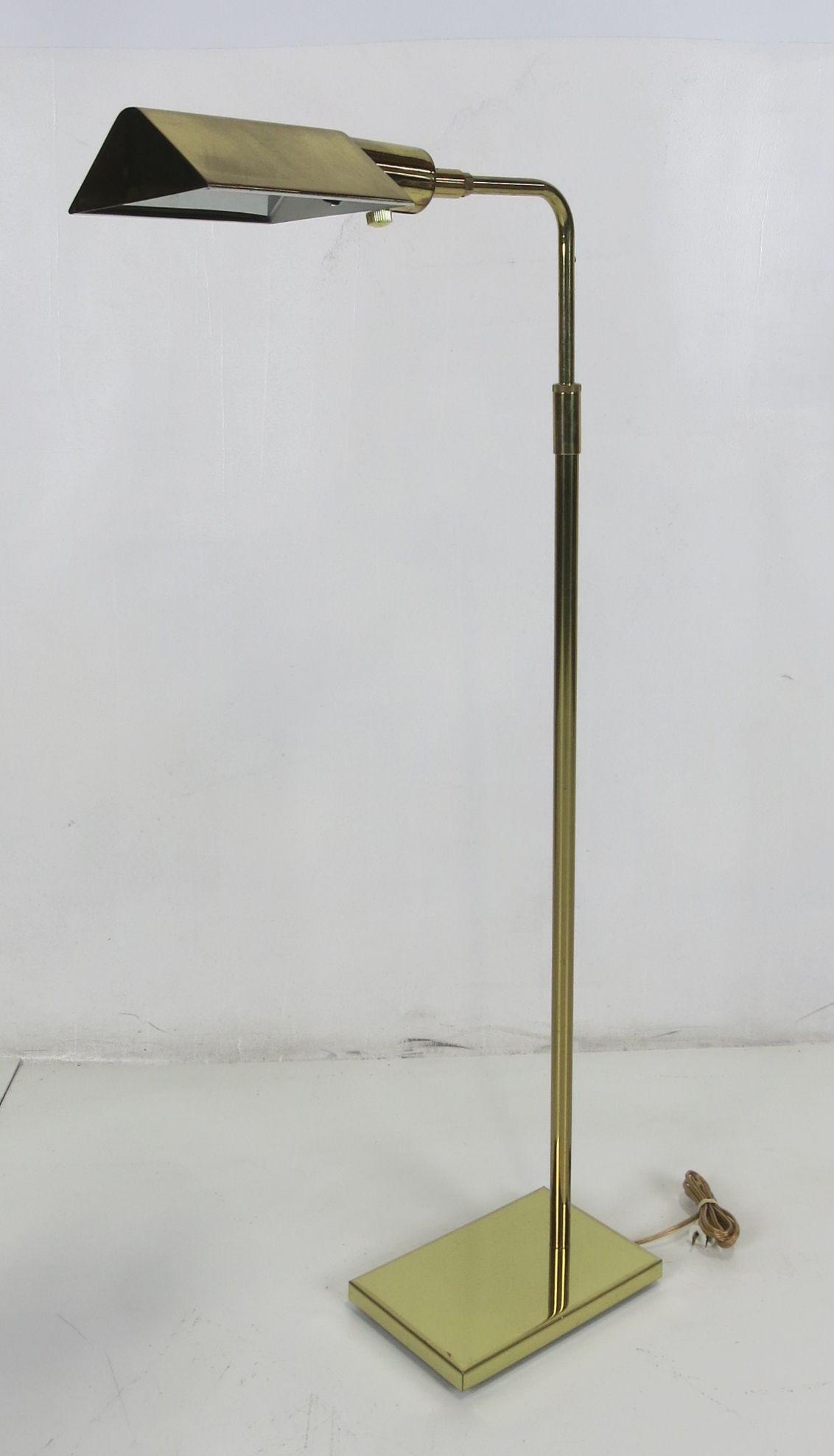 Brass Tent Shade Pharmacy Lamp By Koch U0026 Lowy Image 2