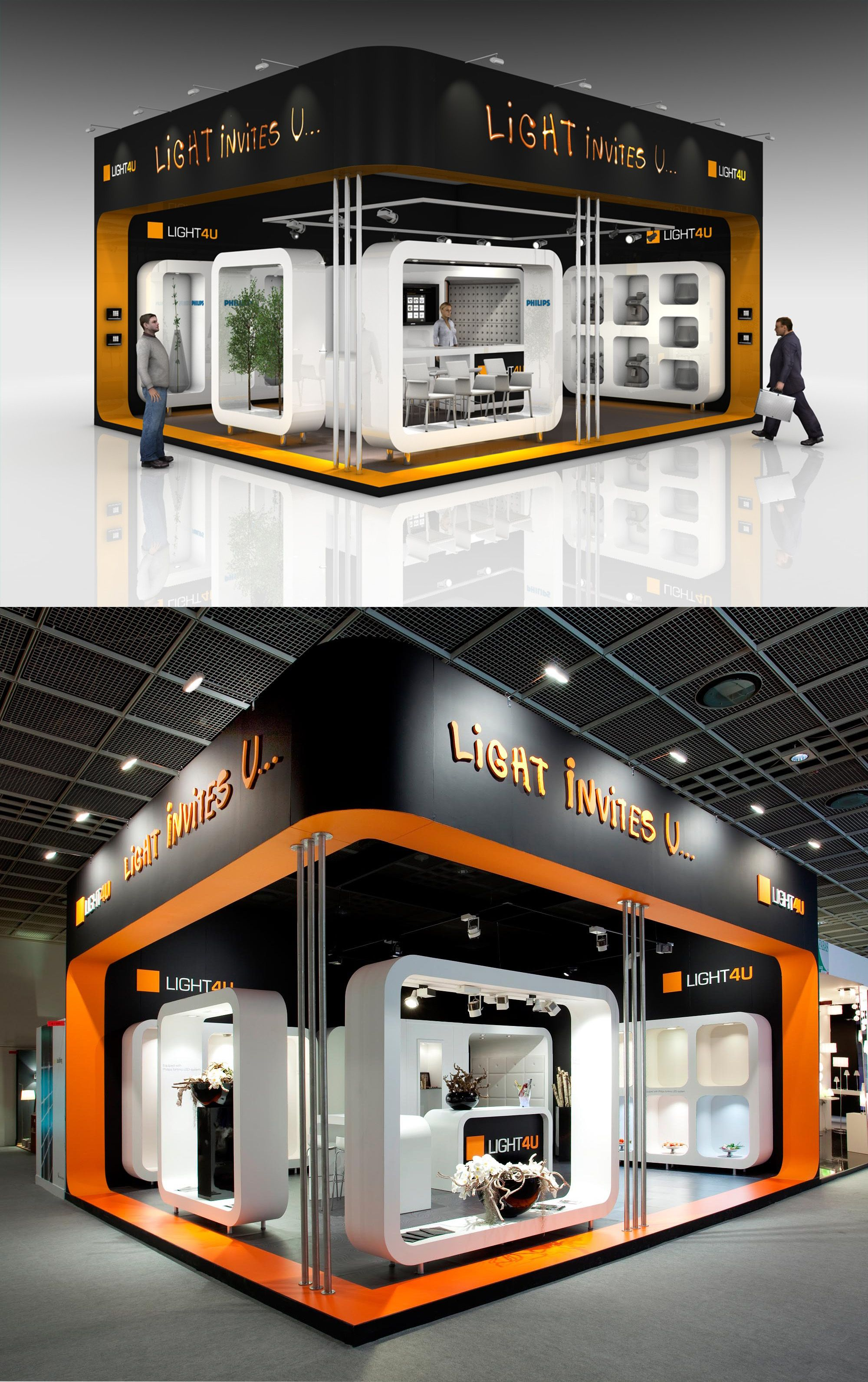 Exhibition Stall Lights : Exhibition stand design from the inside stand building at light