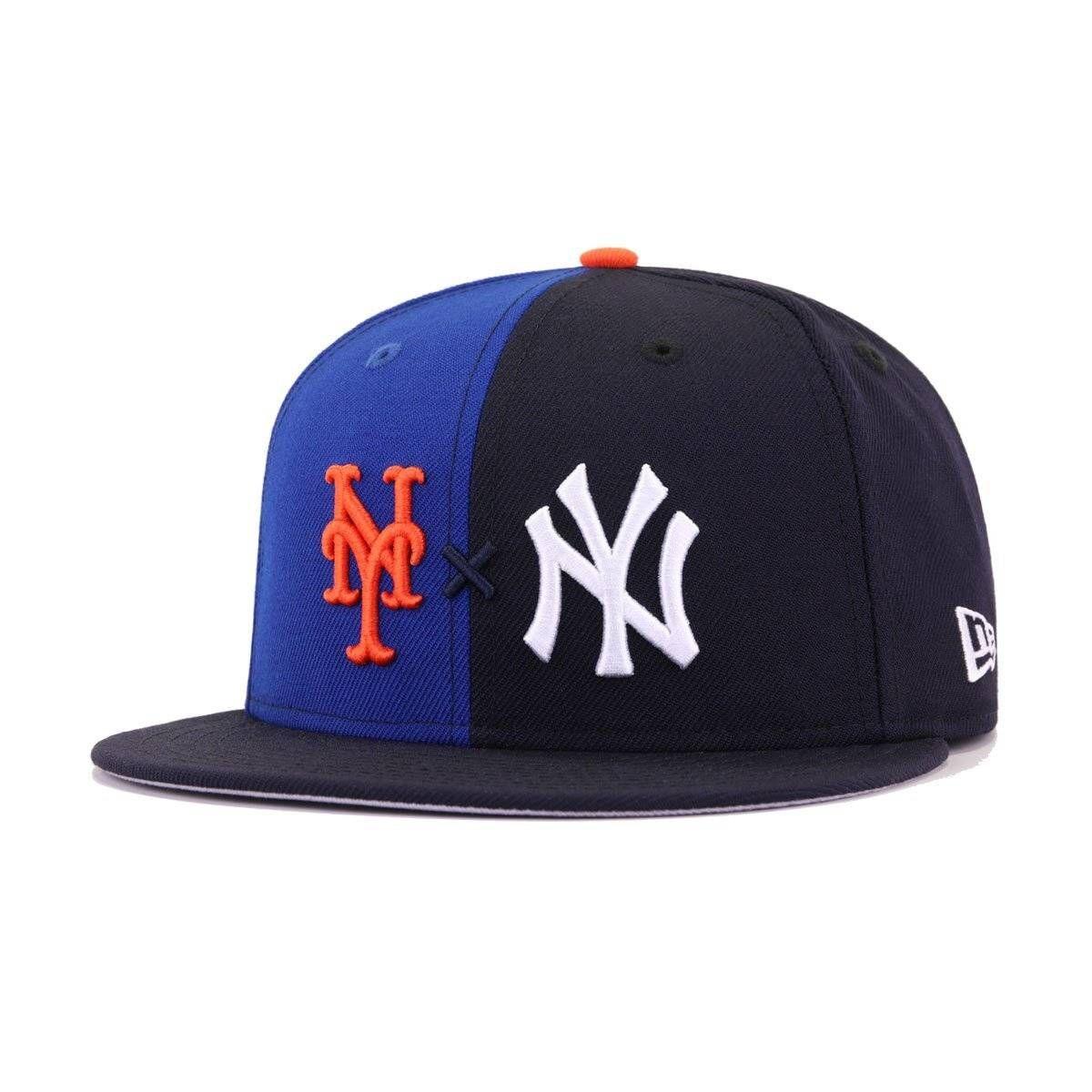 New York Yankees X New York Mets X Hat Heaven Navy Light Royal Blue Subway Series New Era 9fifty Snapback Subway Series New York Mets New York Yankees