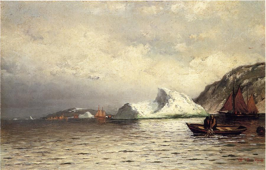 Pulling in the Nets, Oil On Canvas by William Bradford (1590-1657, United Kingdom)