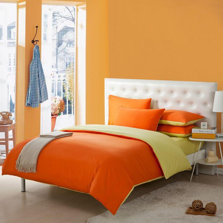 Cheap Moderna #2967 sistema del lecho de naranja 4 unid hoja de cama ...