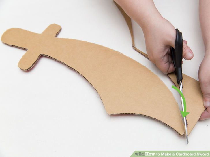 how to make a prop sword out of cardboard