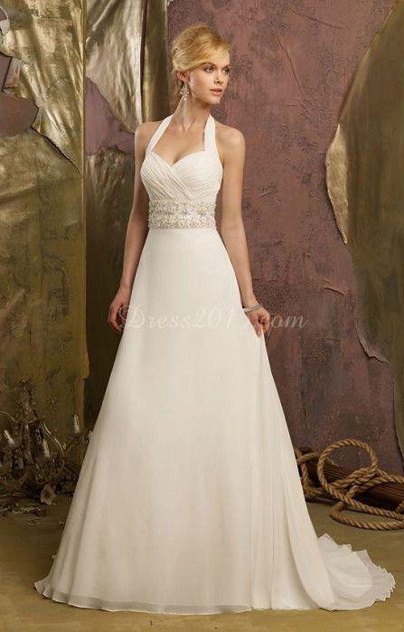 Simple Halter Wedding Dresses