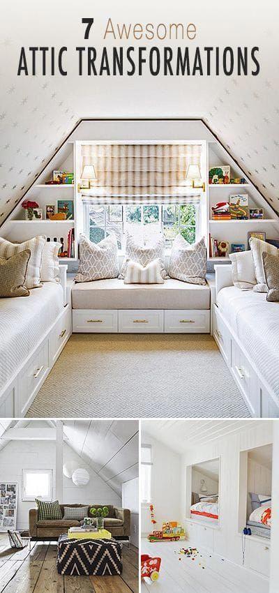 3rd Floor Addition Home Design Ideas Renovations Photos: Attic Bathroom Addition #atticrenovationstaircases #atticbathroombookshelves