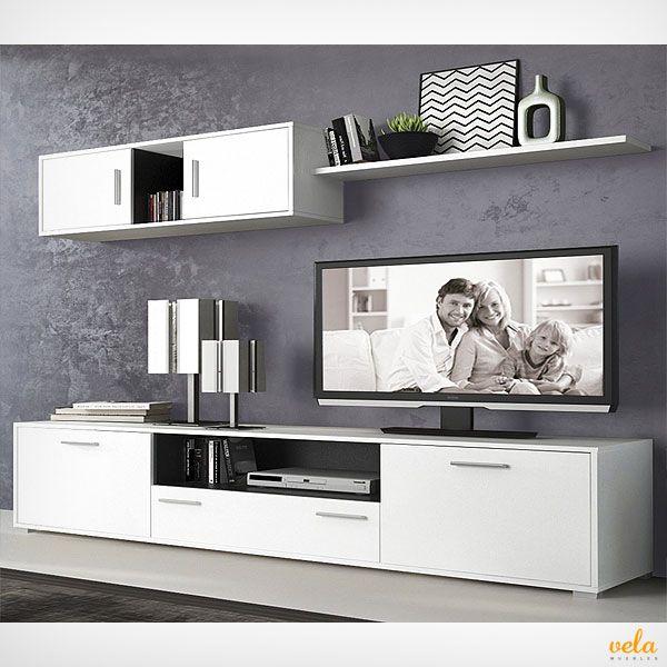 Muebles salon modernos baratos con chimenea modernos en - Muebles de television baratos ...