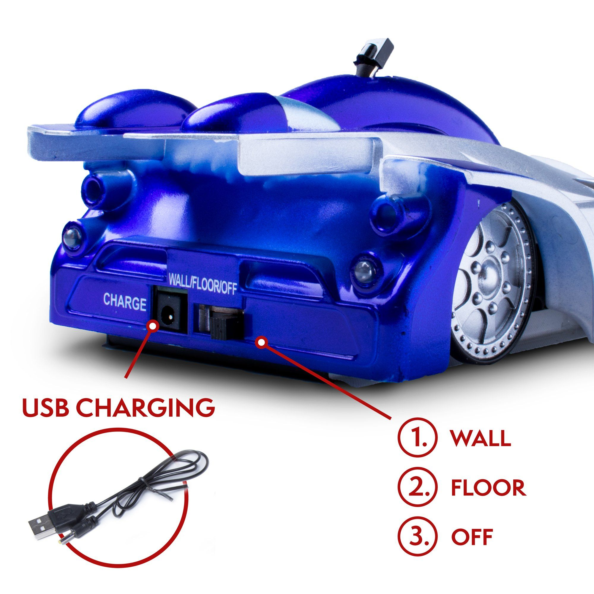 Wall Climber Remote Control Car Rechargeable Gravity