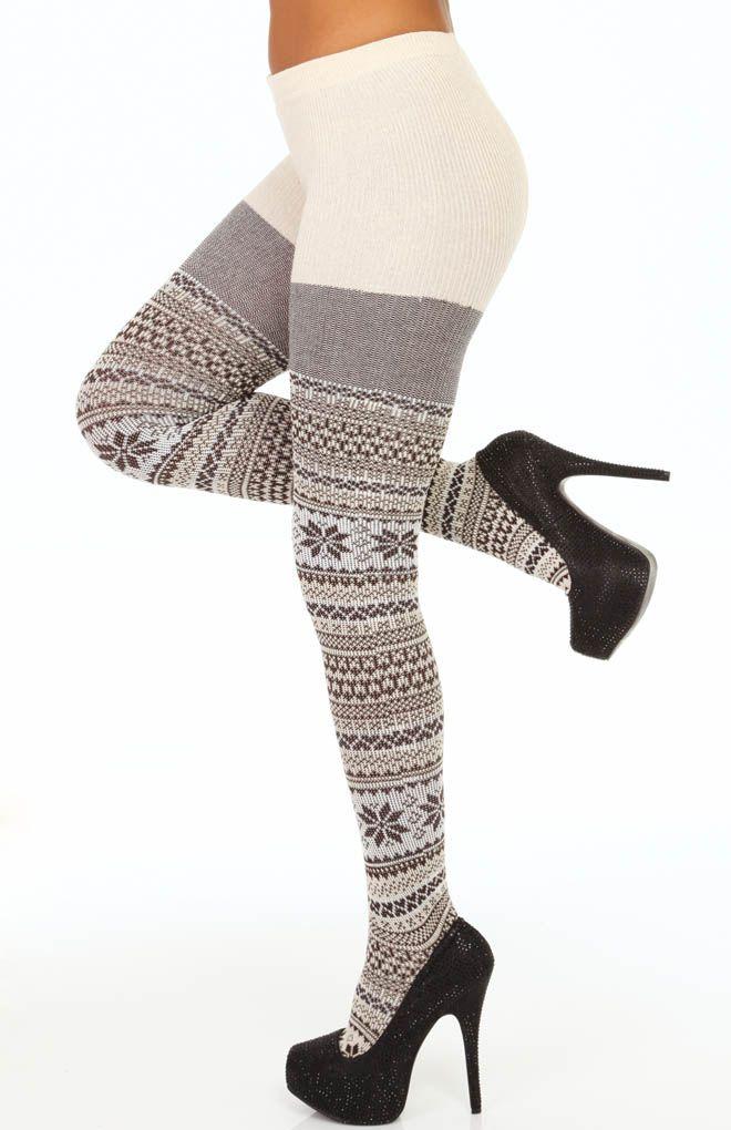 Hue Fairisle Sweater Tights U13902 - Hue Hosiery | Fashionable ...