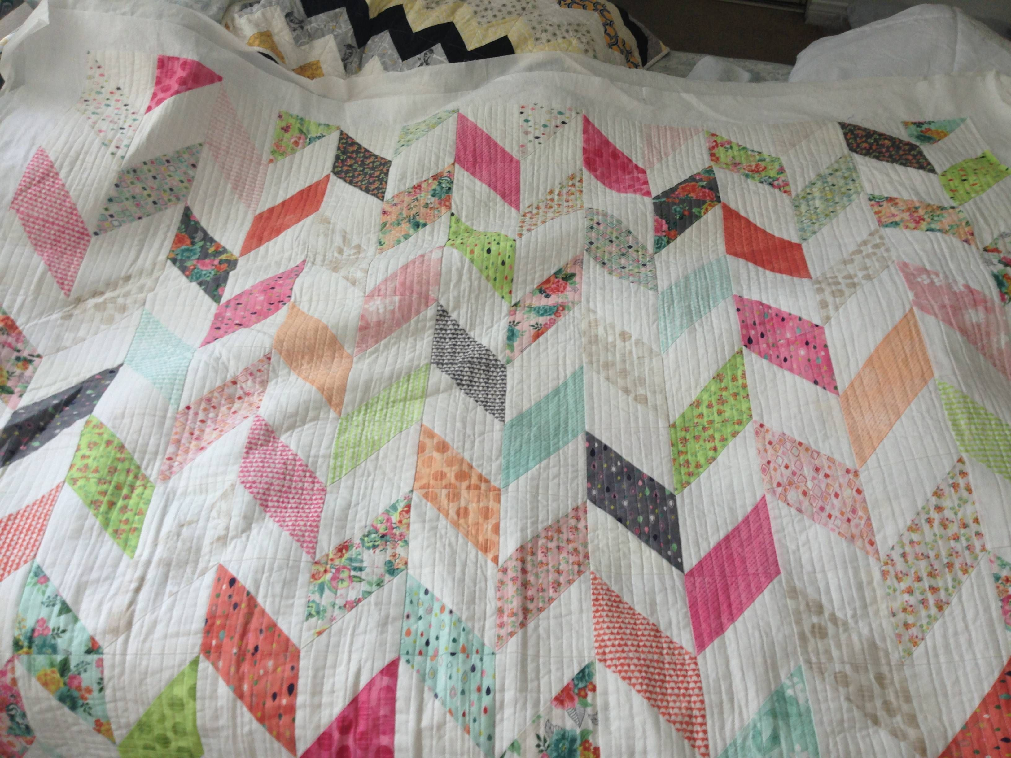 """My Fresh Cut charm pack quilt is fully quilted! I used """"organic ... : quilts from charm packs - Adamdwight.com"""