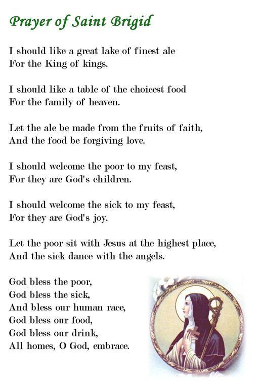 Saint brigid prayer