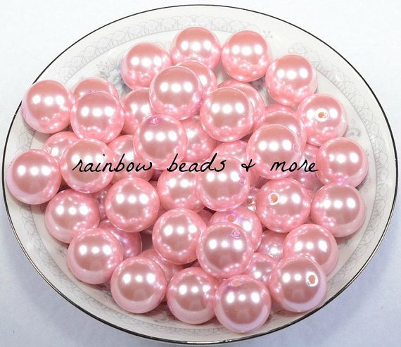20mm Beads Chunky Pearls Bead Mix Acrylic Beads Bubblegum Beads Imitation Pearl Beads Chunky Beads Chunky Necklace Round Beads Faux Pearls
