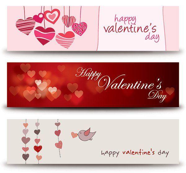 valentines day clip art Valentines Banners Vector Graphic u2014 happy - fresh invitation banner vector