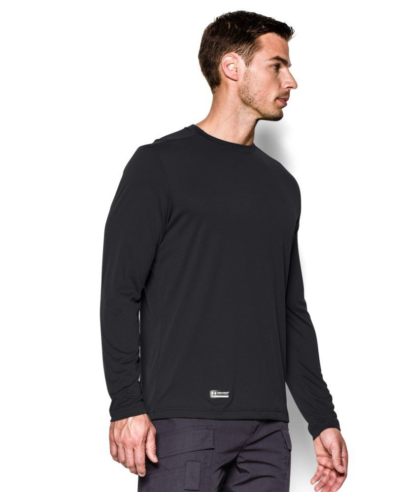 74319414 Under Armour Mens Tactical UA Tech Long Sleeve TShirt Black/None ...