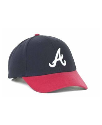 82f5ec6e9c2  47 Brand Atlanta Braves Mlb Mvp Curved Cap - Navy Red