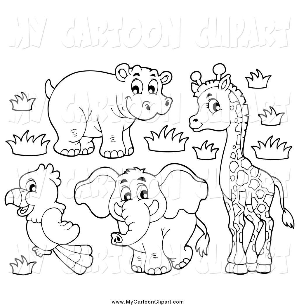 Cute Elephant Drawings Cartoon Clipart