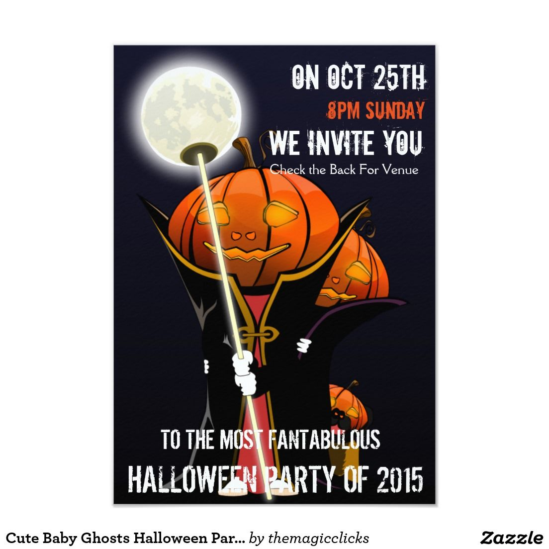 Cute Baby Ghosts Halloween Party Invitation | Art Products ...