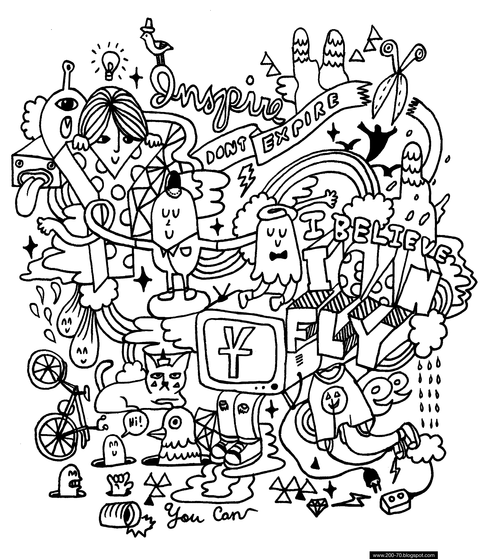 Fun coloring for Kids and Adults, A rainy day delight
