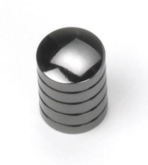 Laurey Cabinet Knobs, 5/8u2033 Cylinder Knob  Black Nickel