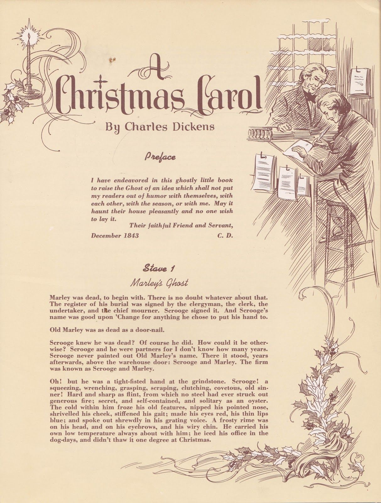 A Christmas Carol by Charles Dickens <> Illustrated by Charles Ropp ...