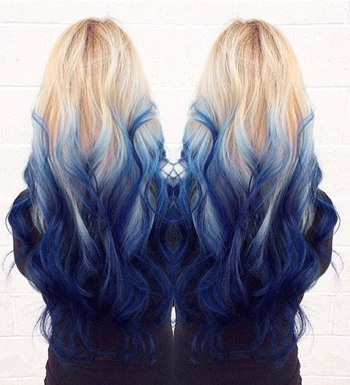 Full Head 613 Royalty 8211 Royal Blue Ombre 100 Human Hair