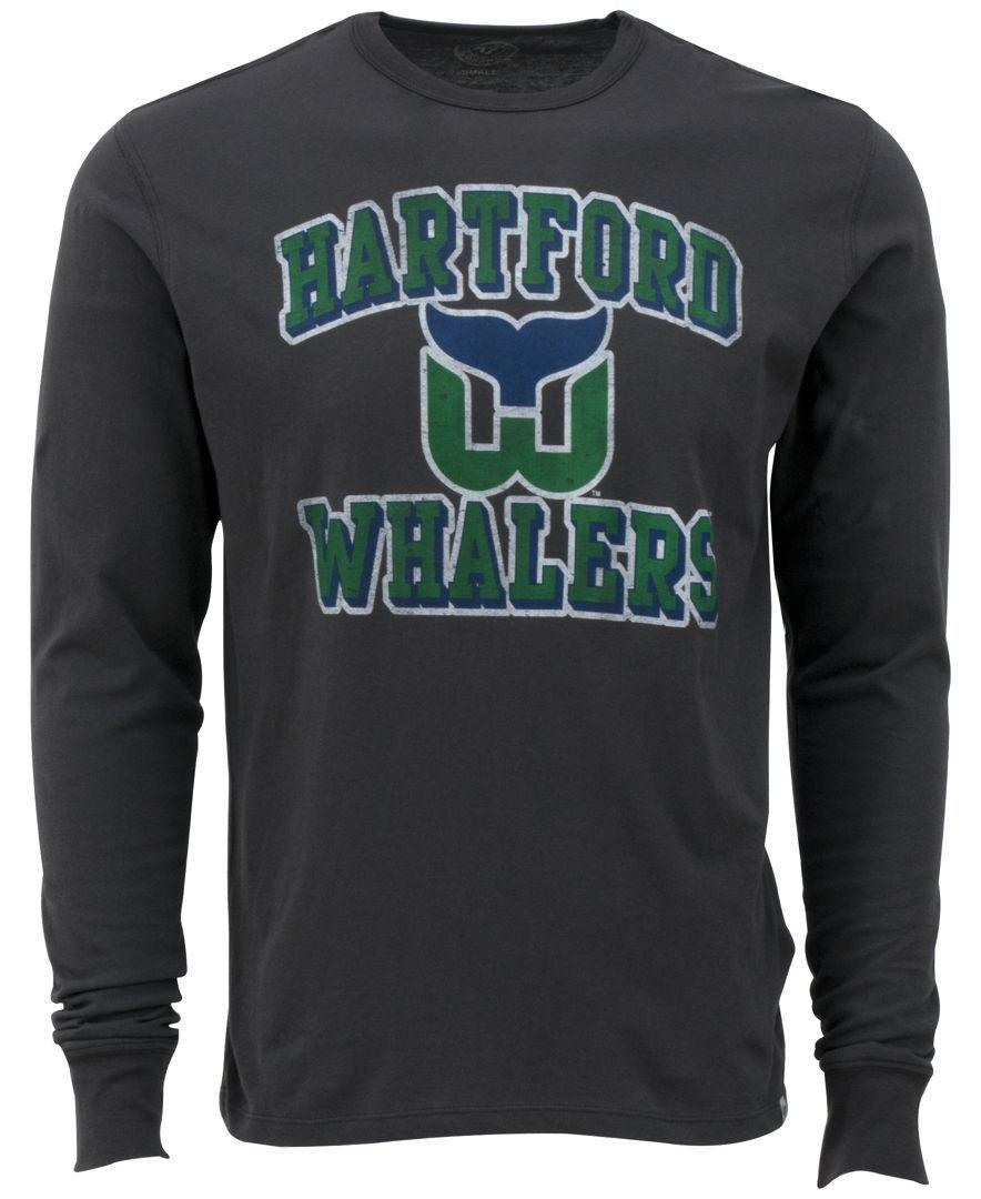 47 Brand Men s Long-Sleeve Hartford Whalers Flanker T-Shirt ... 10a17ab6e68