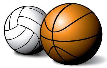 Volleyball And Basketball Basketball Volleyball Indoor Sports