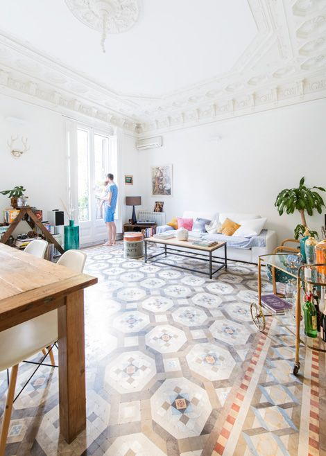 Binnenkijken In Een Eclectisch Vintage Appartement In Barcelona /  Www.woonblog.be