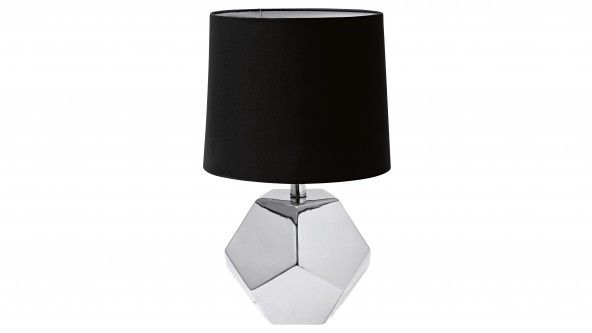 Distinctive Contemporary Design Combines A Modern Black Lamp Shade With A Ceramic Base