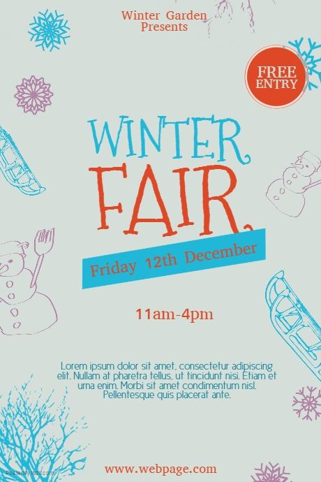 Free Winter Fair Flyer Template  Postermywall  Free Winter Flyer