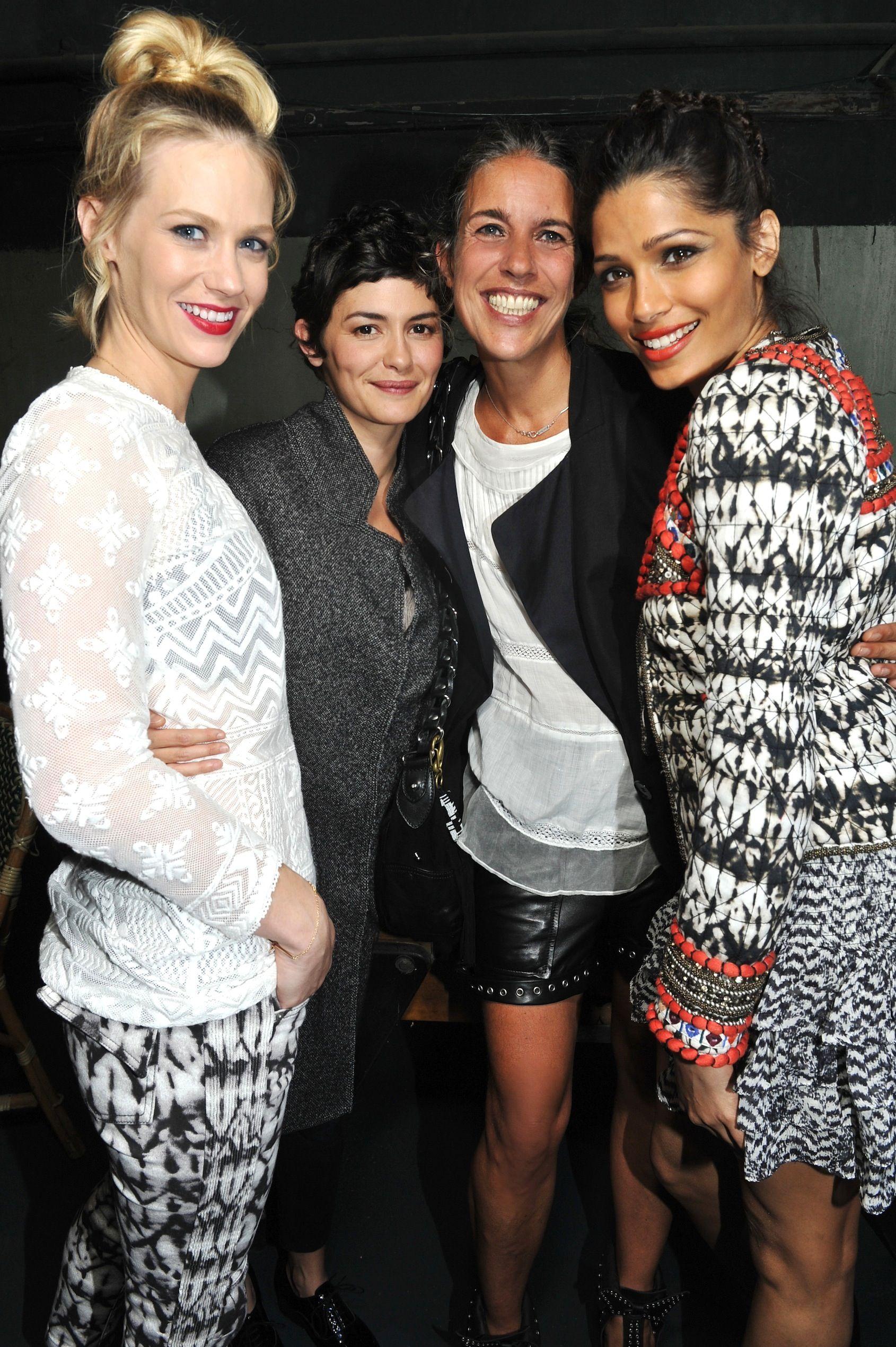 January Jones, Audrey Tautou, Isabel Marant, Freida Pinto wearing #isabelmarant for h&m