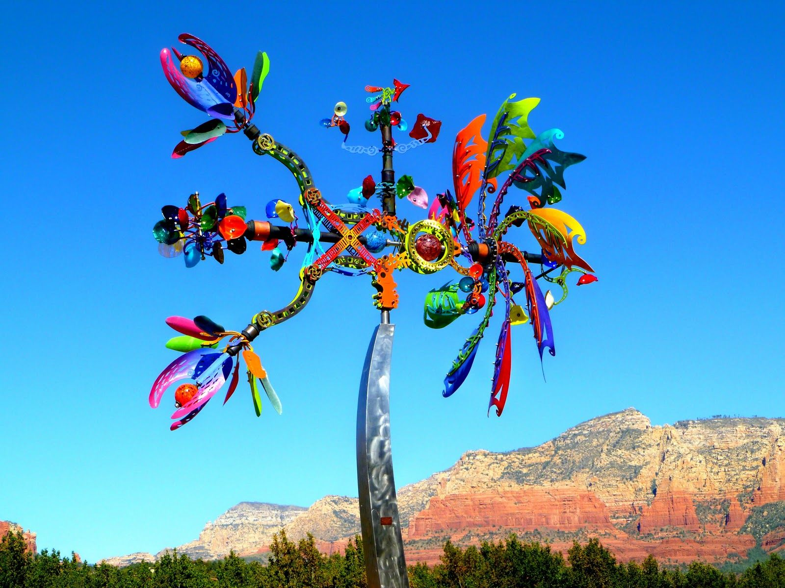 Life S A Beach Sedona Colors Whimsical Garden Art Whirligig Wind Art