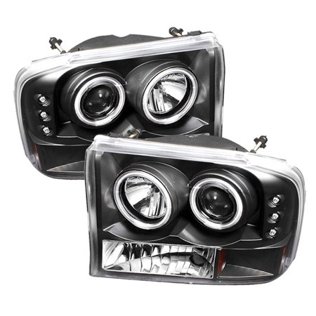 Ford 99-04 F250 F350 Superduty 00-04 Excursion 1PC Black Clear LED Headlights