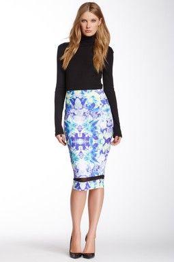 Iris Mid Length Mesh Skirt