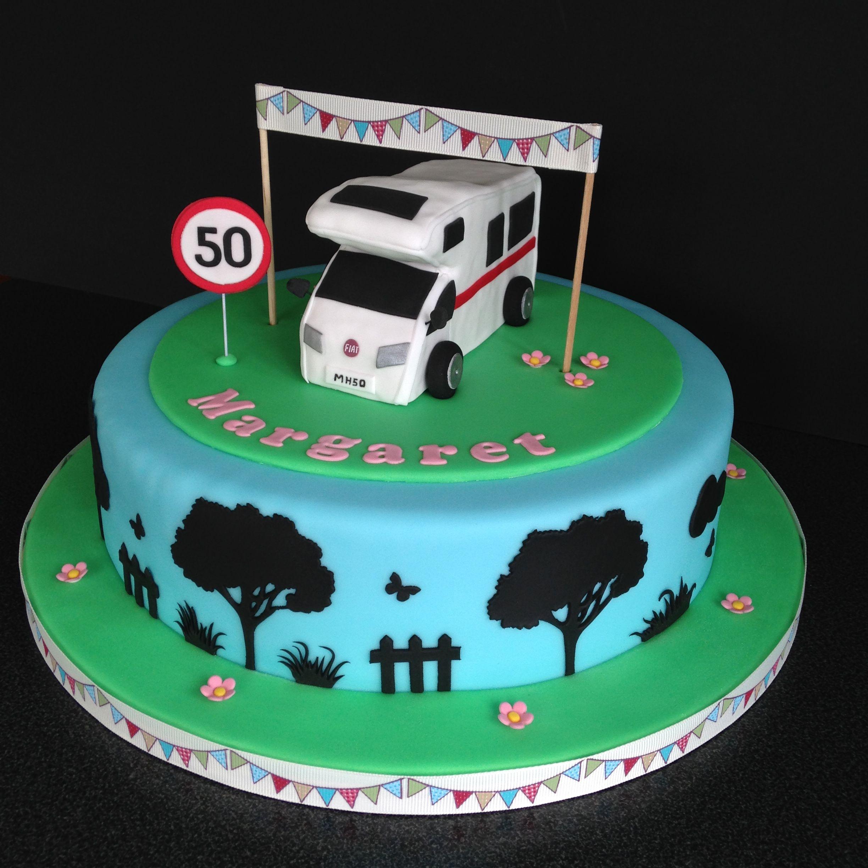 Motorhome 50th Birthday Cake Men Pinterest
