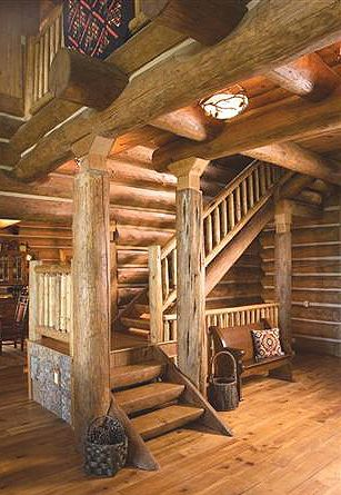 Pictures Of Rustic Columns & Poles Inside Log Homes ...
