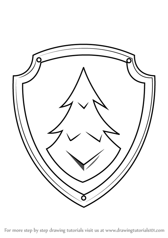 How To Draw Everest Badge From Paw Patrol Drawingtutorials101 Com Paw Patrol Badge Paw Patrol Coloring Pages Everest Paw Patrol