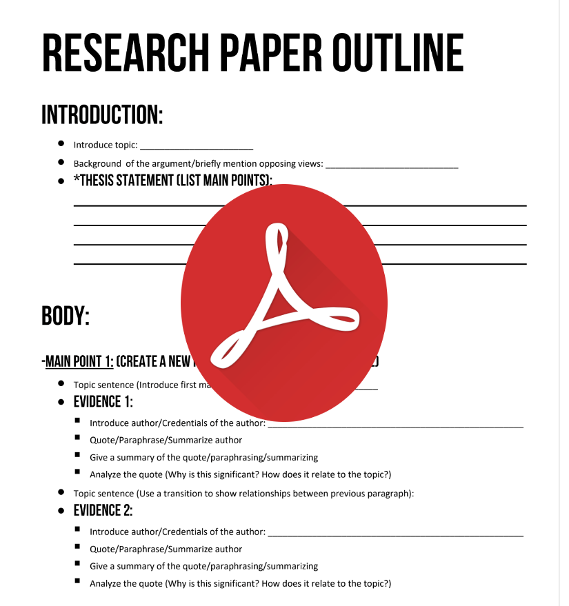Research Paper Outline Research Paper Research Paper Outline Paper Writing Service