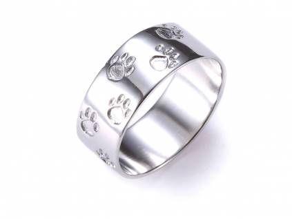 Ring-Silber-Massiv: Hundepfoten / Katzenpfoten | Ringe silber ...