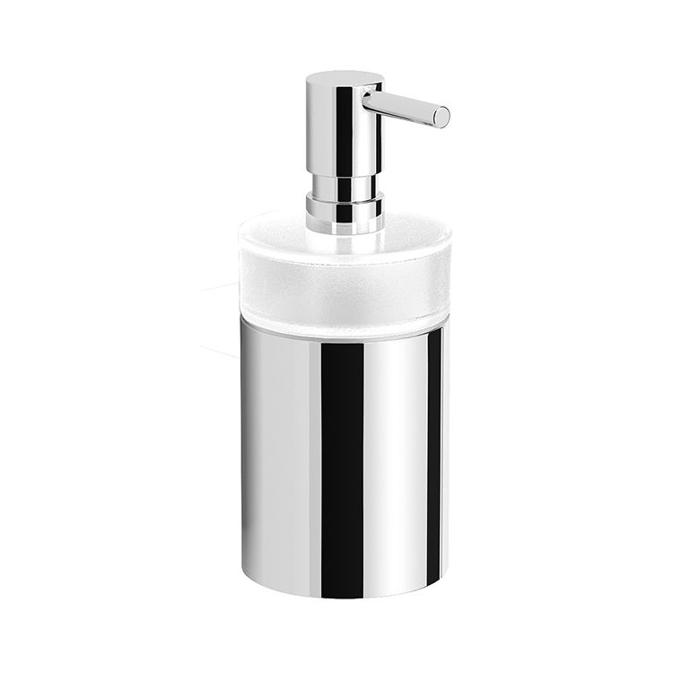 Modern Style Round Countertop Soap Dispenser Soap Container Made