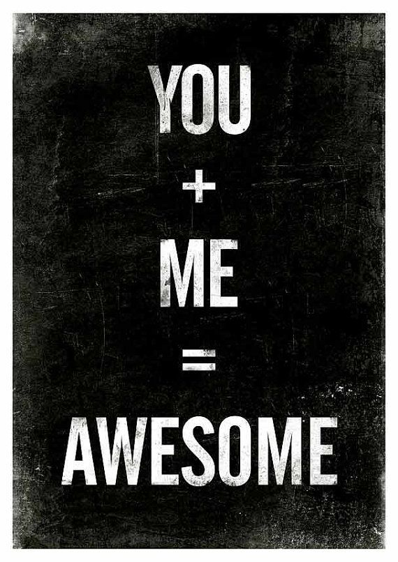 Black and White art  Typographic poster  Awesome Quote by handz, $19.00