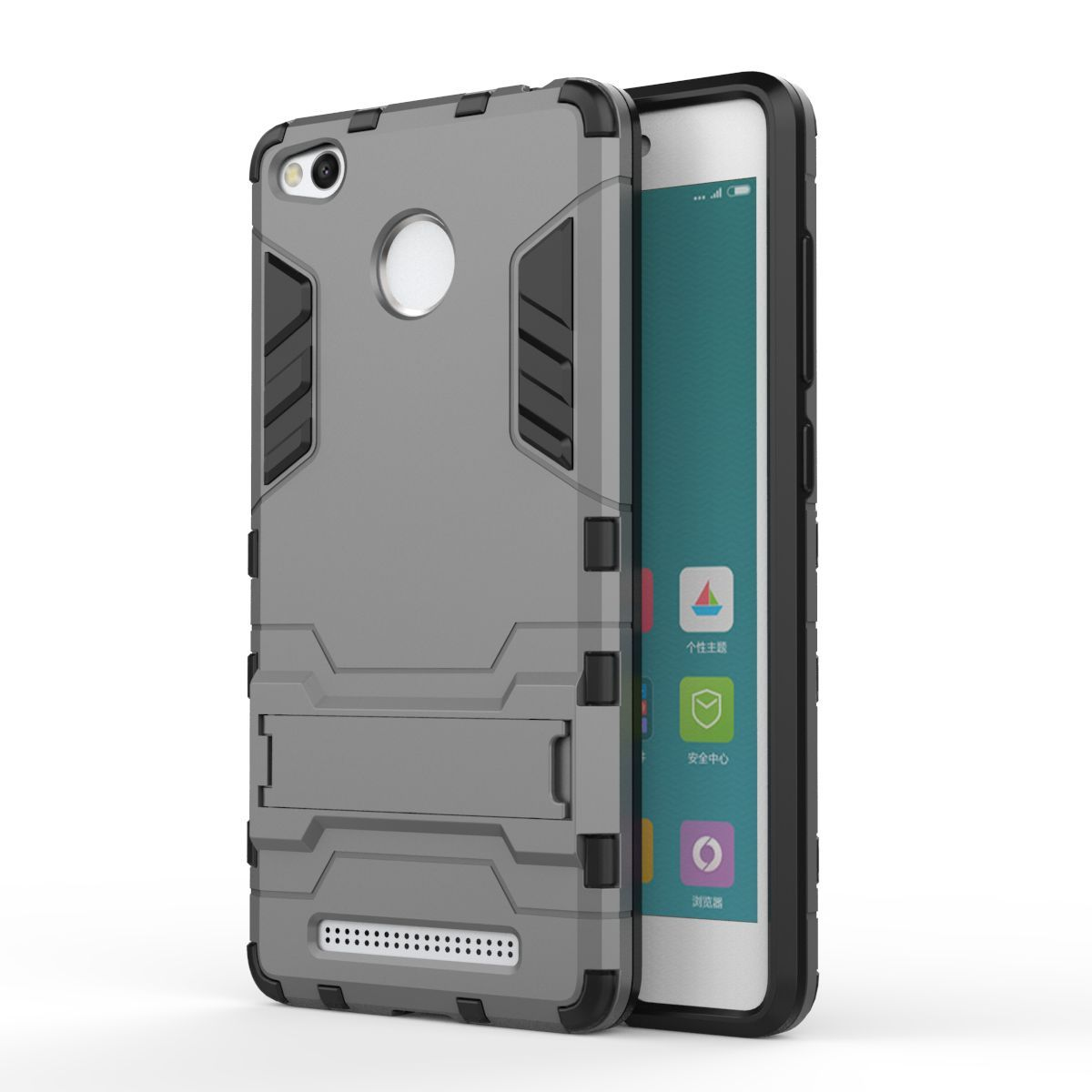 For Xiaomi Redmi 3 Pro Phone Case Shockproof Robot Armor Slim Rugged Rubber Silicone Hard Back Cover 3s
