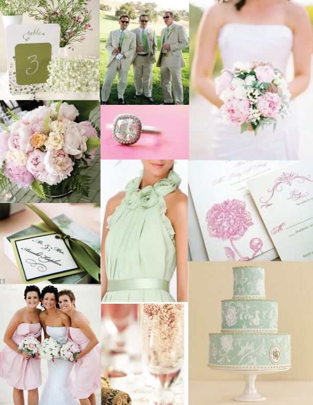 blush pink and sage green inspiration