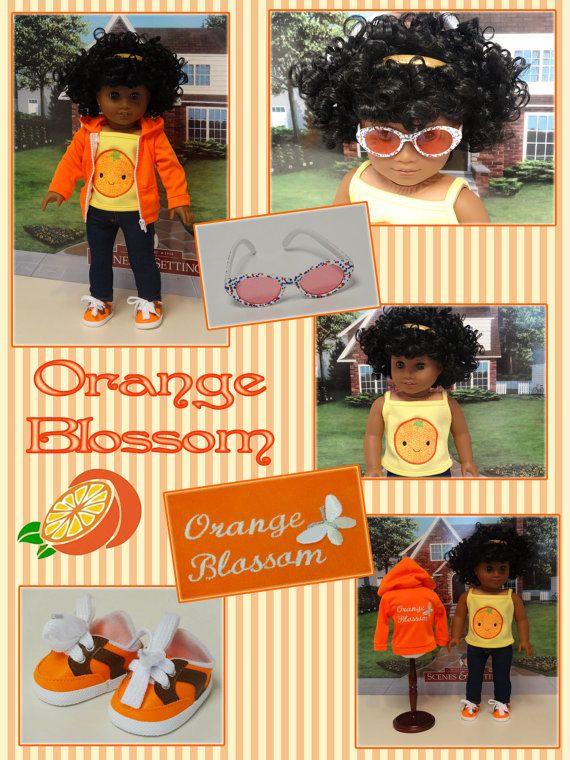 Orange Blossom custom American Girl doll with by cupcakecutiepie